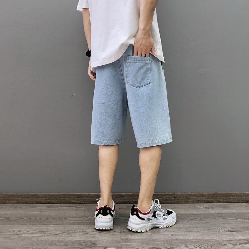 denim nuova margherita di estate degli uomini SDVvs 9YSQU stampato 2020 e pantaloni diritti allentati studente uomini dei bicchierini pantaloncini