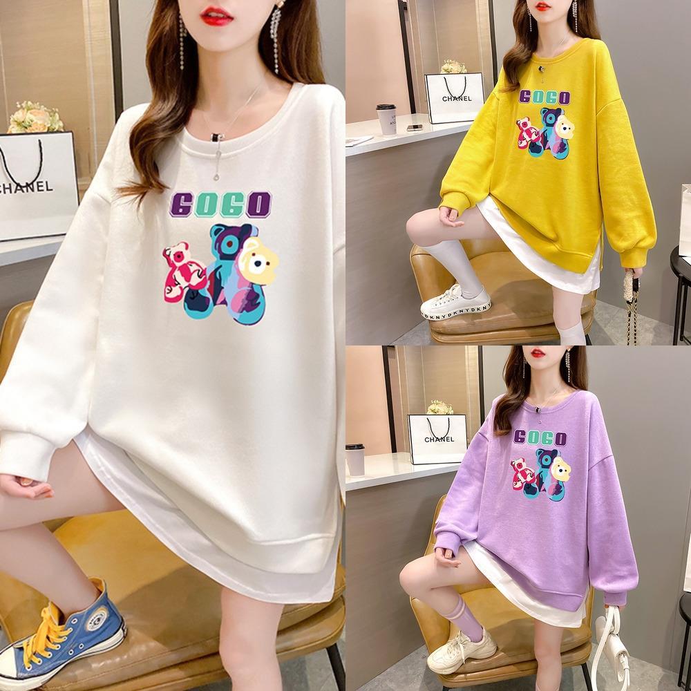 2020 가을 새로운 여성의 코트 가을 슈퍼 뜨거운 CEC 가짜 두 조각 풀오버 스웨터 pulloverCoat pulloversweater zAc5P 여성을위한