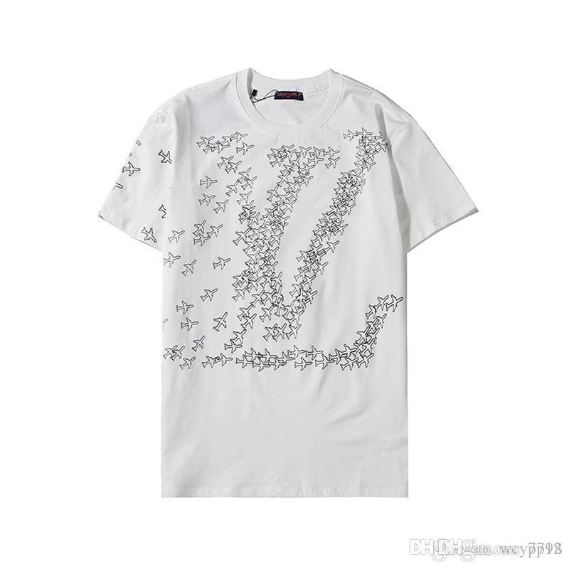 T-shirt de Hip Hop Impressão Moda Mens Designers Camiseta de manga curta de alta qualidade Homens Mulheres Camiseta