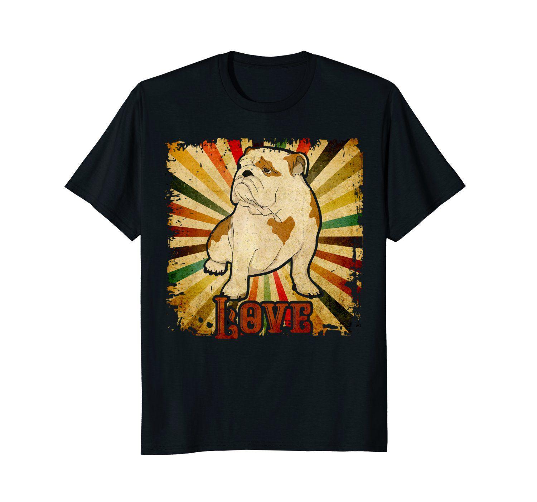 100% Algodão Verão design t-shirt Impresso O-Neck Streetwear Bulldog Inglês camiseta Vintage Bulldog Inglês Retro Camiseta Arte