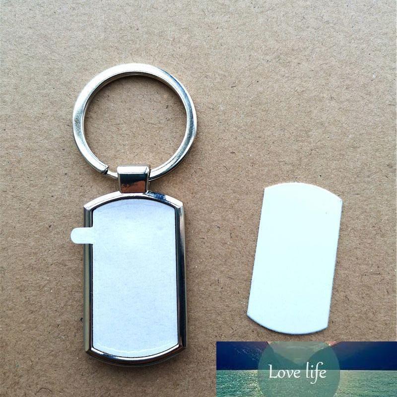 estilo caliente sublimación llave en bruto de metal anillo de cadena de transferencia caliente impresión llaveros espacios en blanco consumibles pequeño lote de materia