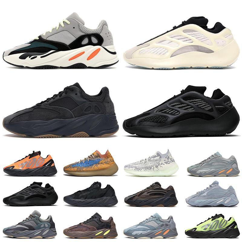 2020 Nueva Kanye West 700 corredor de la onda Azael Extranjero azul avena niebla Vanta los zapatos corrientes de los deportes para mujer para hombre de las zapatillas de deporte 380 Tamaño 46