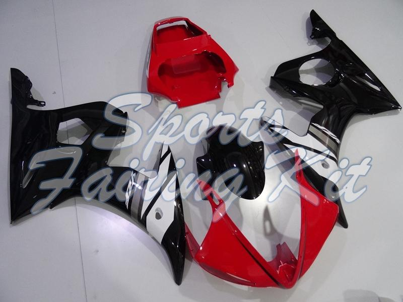 Обтекатели для YZF R6 2003 - 2005 Black Red Full Body Kits YZFR6 03 04 обтекателя YZFR6 2003