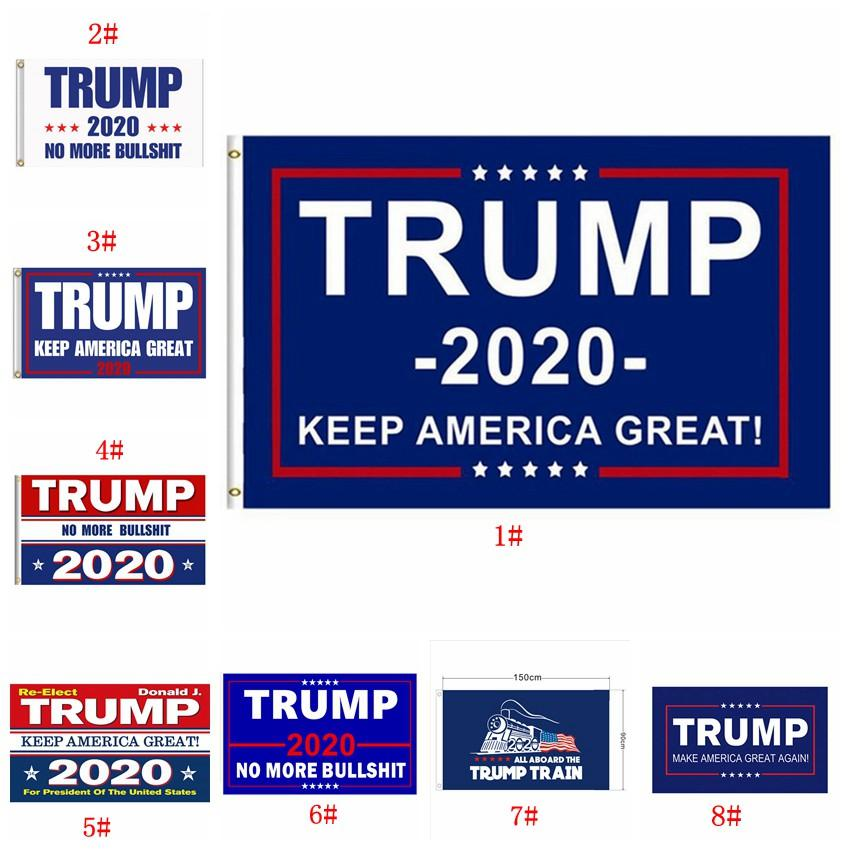 Donald Trump Flag Multi Styles 2020 Trump Flag Keep America Great Donald For President Campaign Banner Garden Flags 90*150cm BWF844