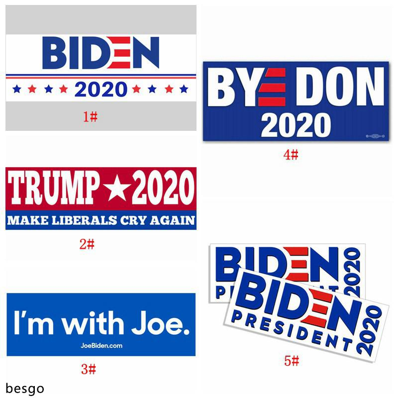 New Trump Joe Biden Car Stickers 7.6*22.9cm America President Election Car Bumper Sticker Flag Decal Car Styling Vehicle Paster BH3831 DBC