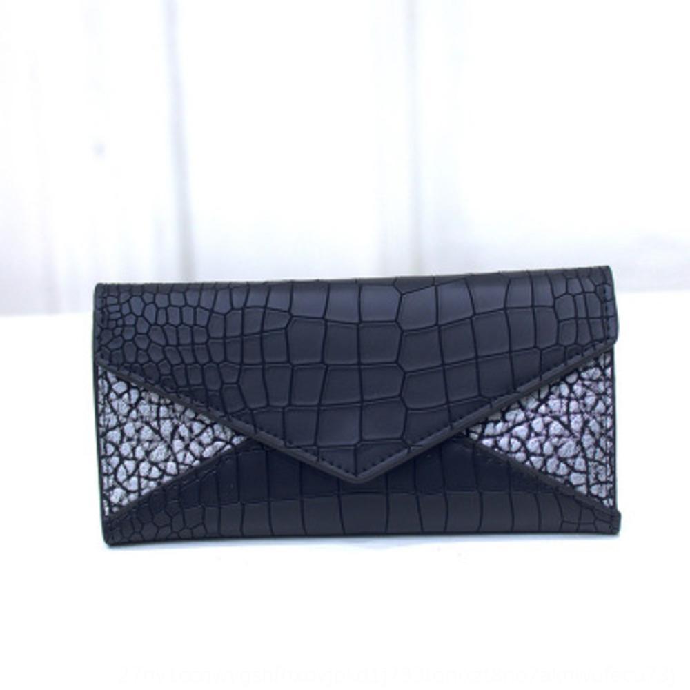 Корейский стиль моды рука карта Длинный кошелек 2019 новые женские сумки случайные горизонтальная сумка карты крокодил шаблон три раза бумажник LvnOJ ЛВН