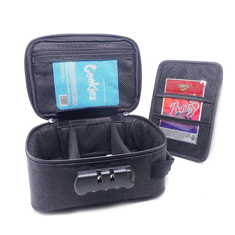 Eastoner Smell Proof Bag مع مزيج قفل رائحة برهان حالة القضية حاوية صفر snag waterpoof السوستة حقيبة للسفر