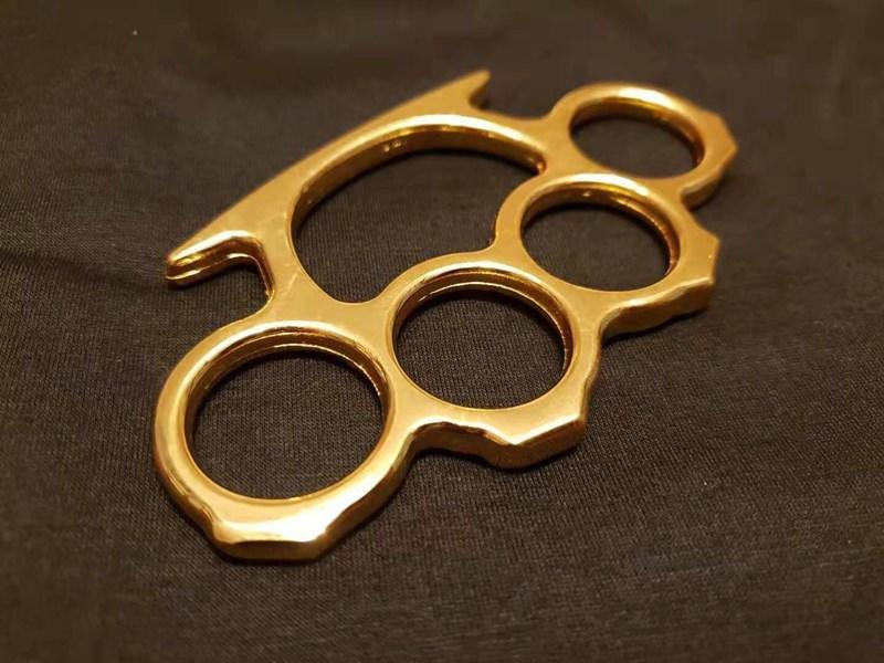 10PCS Gold Silver and Black Thin Steel Brass knuckle dusters,Self Defense Personal Security Women's and Men's self-defense Pendant