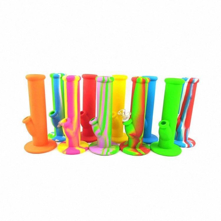 Silicone Bong H3 Altura 254 milímetros multi cores de água Tubulação de fumo FDA Dab Rig Oil Com Vidro DHL Shipping fOcQ #