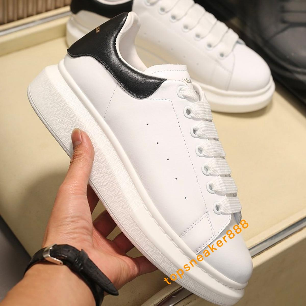 2020 Herren Schuhe Mode Frauen Schuhe Herren Leder schnüren sich oben Plattform Klassische Casual Man Schuhe mit Kasten