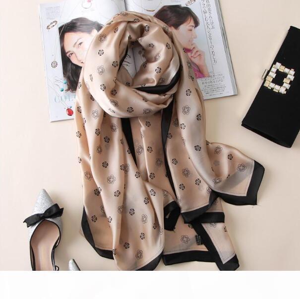 kadın şallar kadınlar ipek eşarp bandana moda yumuşak bayan tasarımcısı sarar uzun boy 180 * 90cm hijabs fular