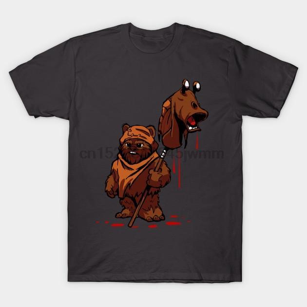 Herren T-Shirt Kurzarm Ewok Rache Pop Culture-T-Shirt T-Shirt-Oberteile Frauen T-Shirt