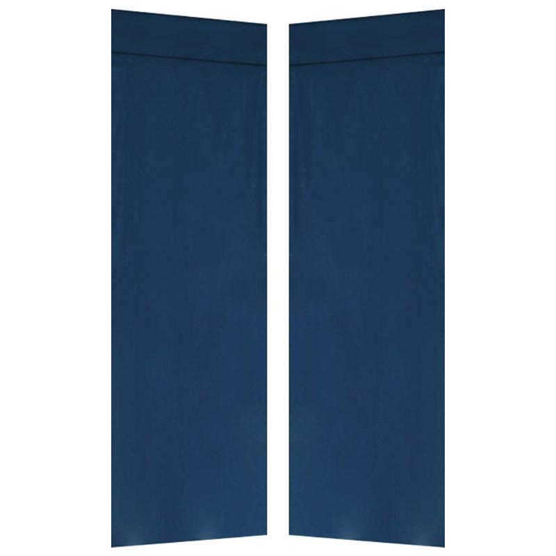 2pcs Window Panel Shading Privacy Protection French Blinds Door Curtain Decorative Magic Sticker Blackout Drapes Kitchen Home
