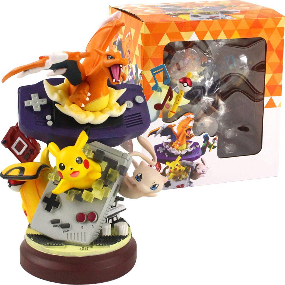 컬렉션 크리스마스 모델 선물에 대한 20cm 새로운 애니메이션 뮤 리자몽 수지 동상 그림 액션 장난감