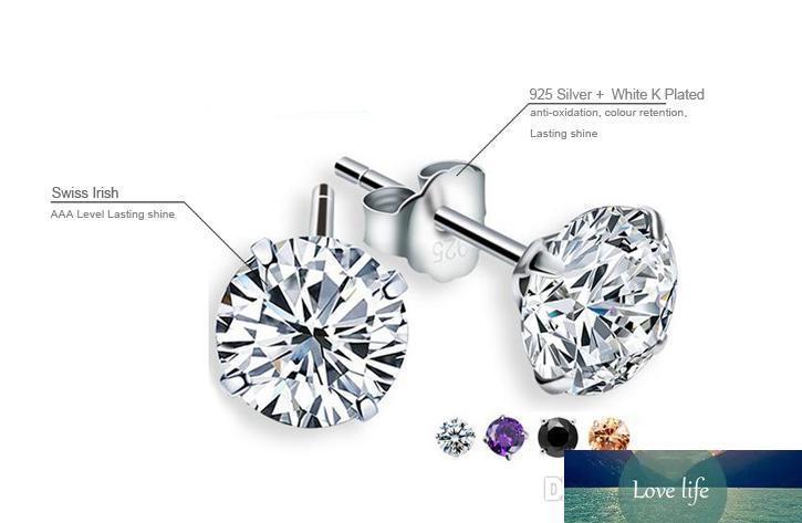 2021 Sale 4mm Cz Diamond 925 Sterling Silver Earrings For Women Men Jewelry Cool Men Stud Earrings Fashion Women Earrings Dhk190 From Holidayqueen 1 11 Dhgate Com