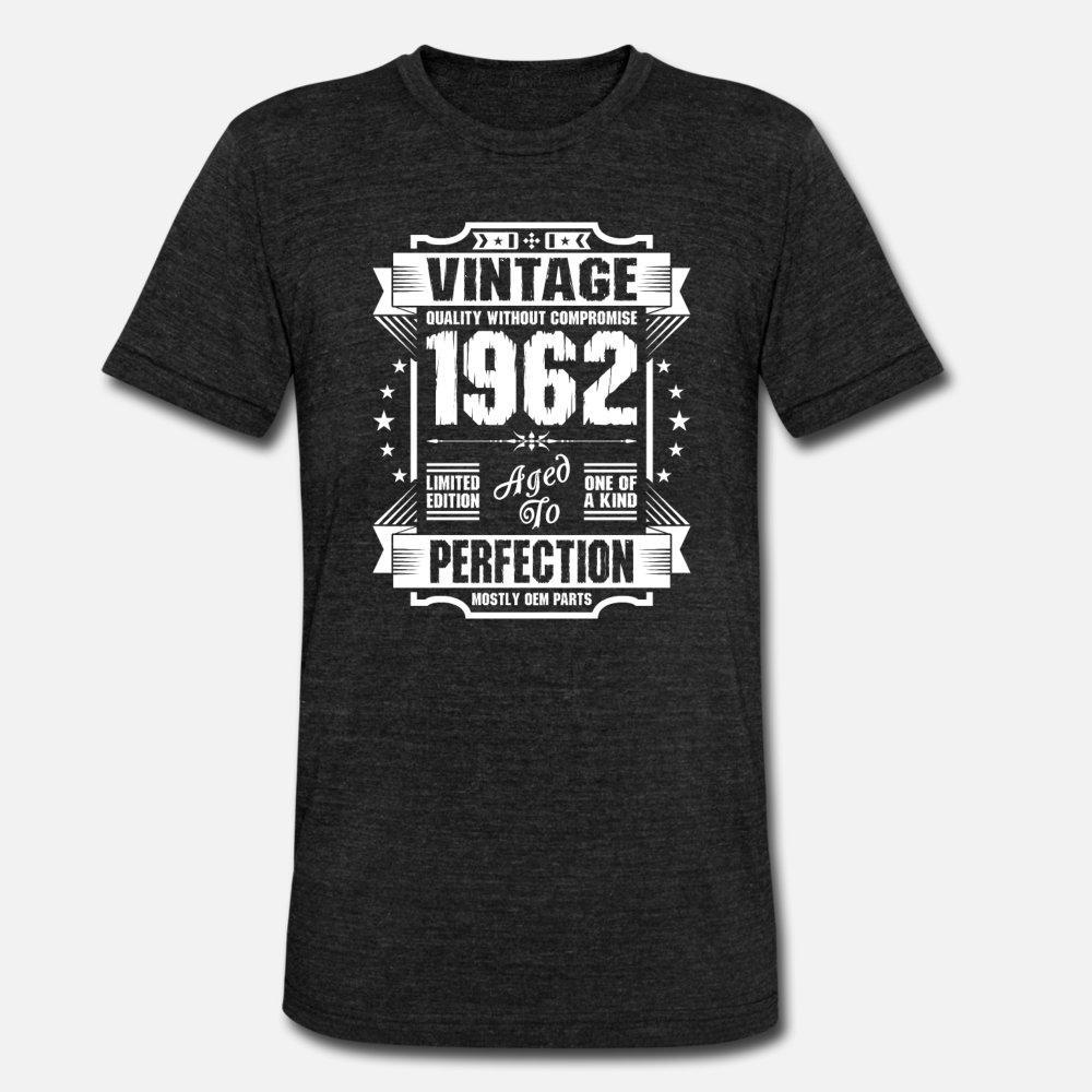 Vintage 1962 Perfektion T-Shirt Männer Design-T-Shirt S-3XL Kostüm Sonnenlicht Gemütlich Sommer-Art-Outfit Hemd