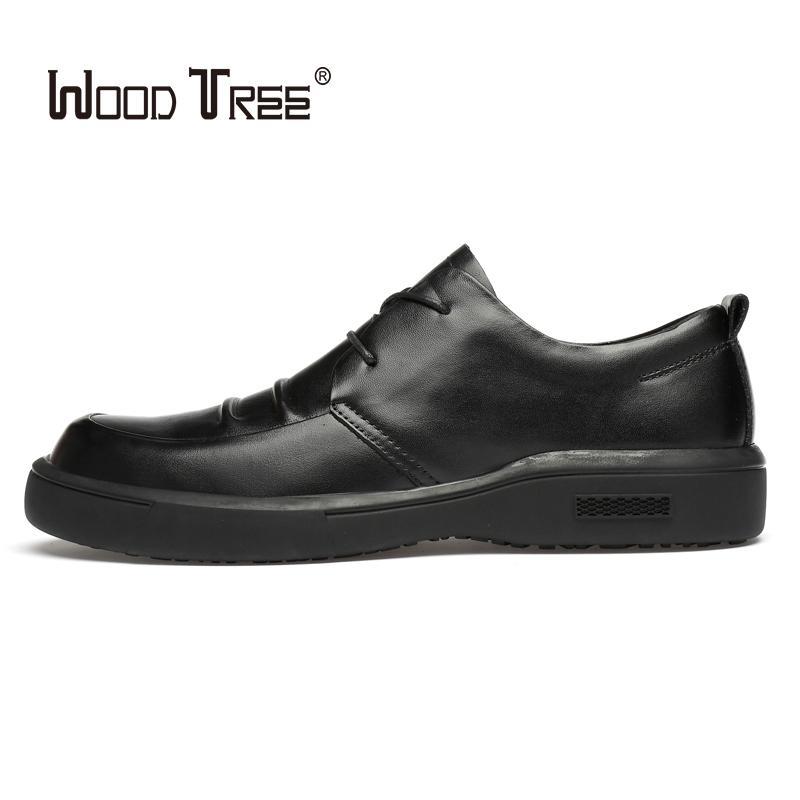 أحذية اللباس woodtree الأزياء جلد طبيعي رجل الأعمال الرسمي أكسفورد