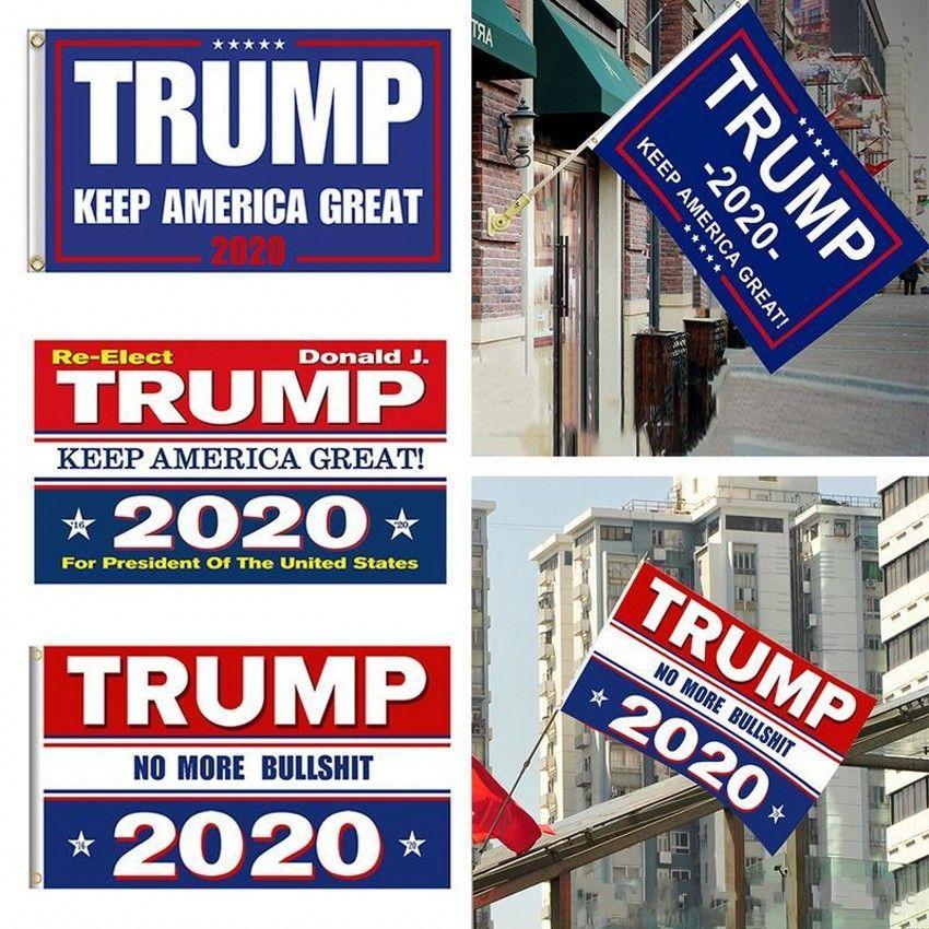 10 цветов Декор Баннер Trump Flag висячие 90 * 150см Trump Keep America Great Banners 3x5ft Digital Print Donald Trump 2020 Flag