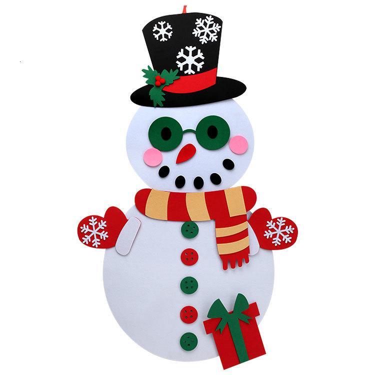 DIY стены дома Висячие Войлок ткани Рождественские украшения снеговика украшения Подарочные наборы для детей