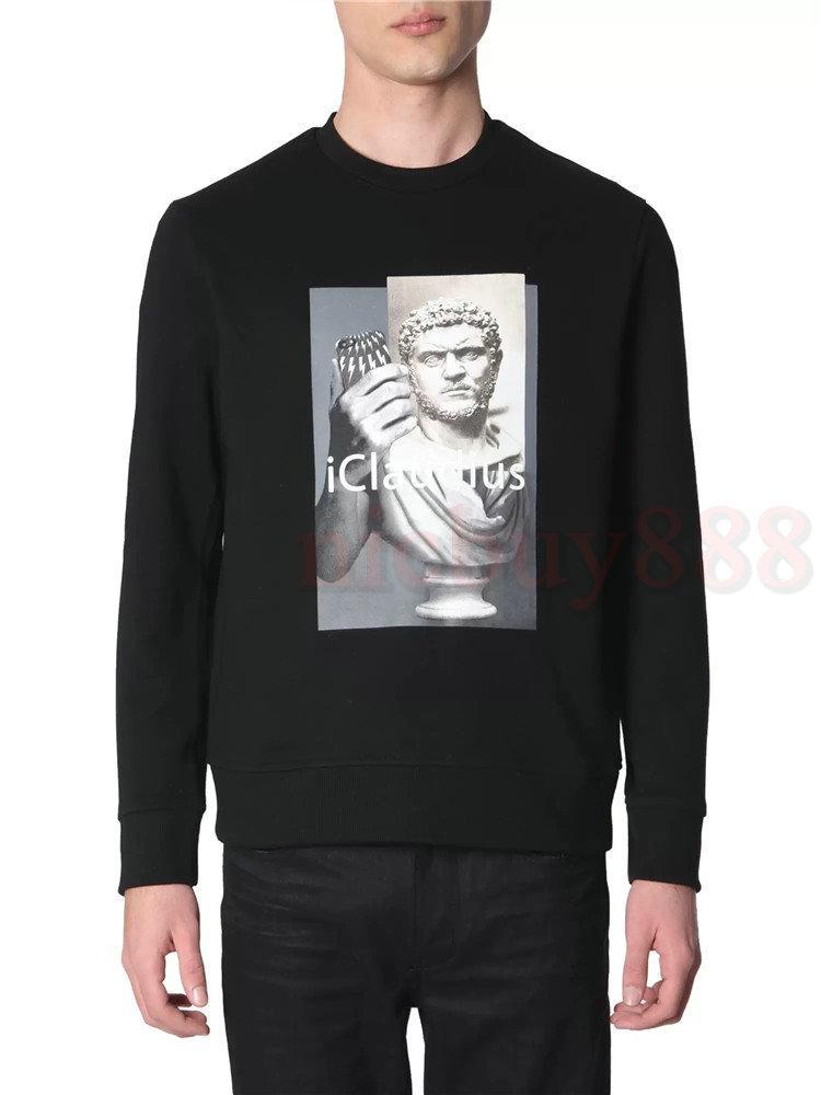 2020 Yeni bahar Tasarımcı giyim erkek baskı hoodies moda en kaliteli heykel baskı sweatshirt Tasarımcı Hoody moda Jumper'larını geometri