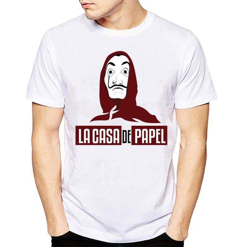 Film Geld Heist The House of Paper La Casa De Papel T-Shirt Männer Lustiges Dali Print-T-Shirt der Männer Kleidungs-Sommer-Top