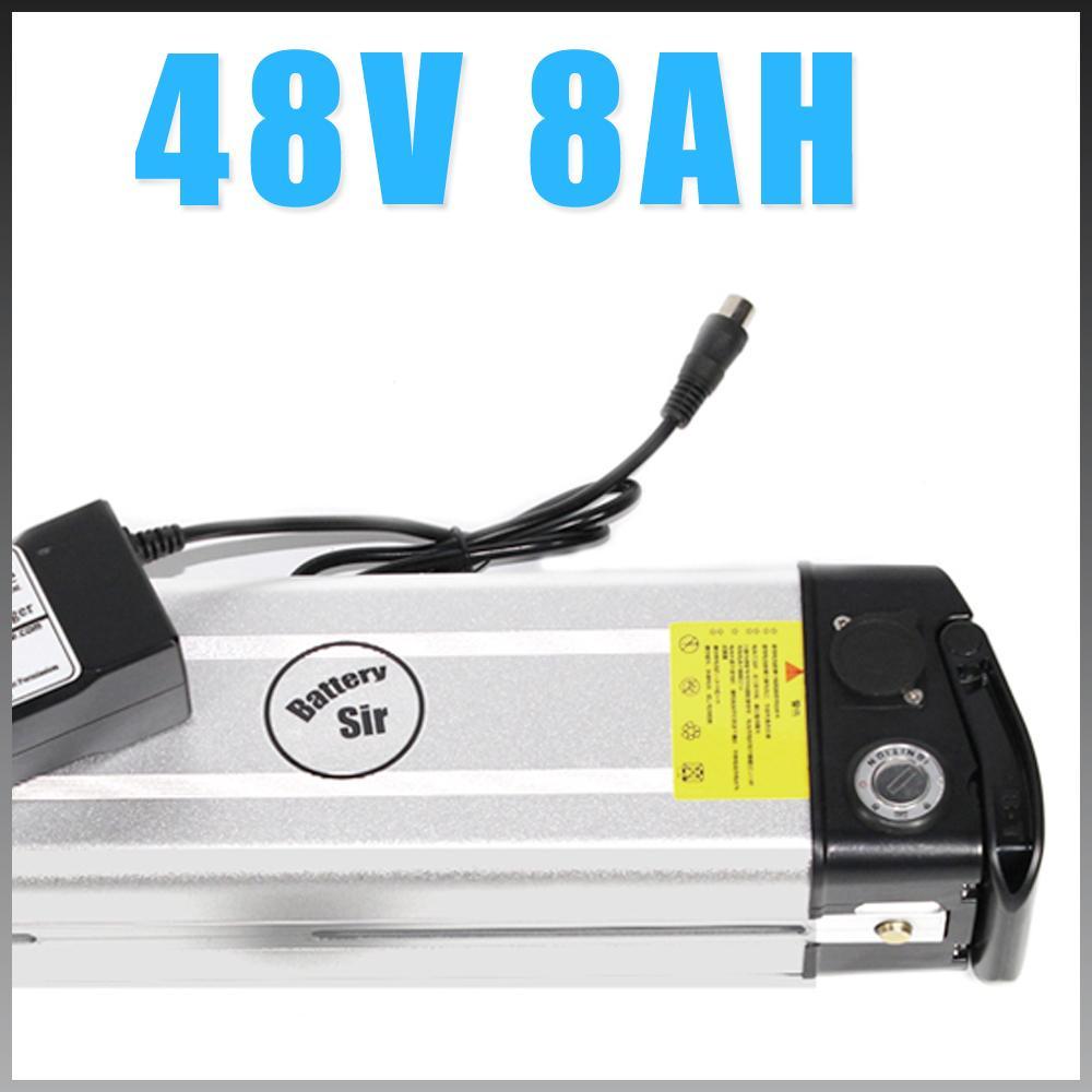 Vendita calda batteria elettrica della bici pesce d'argento 48v 8Ah agli ioni di litio 250w confezione bicicletta