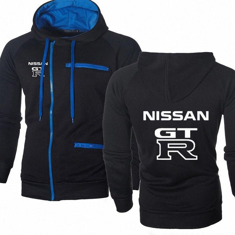 Capuz Hoodies Homens GTR carro com capuz Primavera Outono velo Cotton Zipper Jacket com capuz Moda Hip Hop Harajuku Mens roupas IHiI #