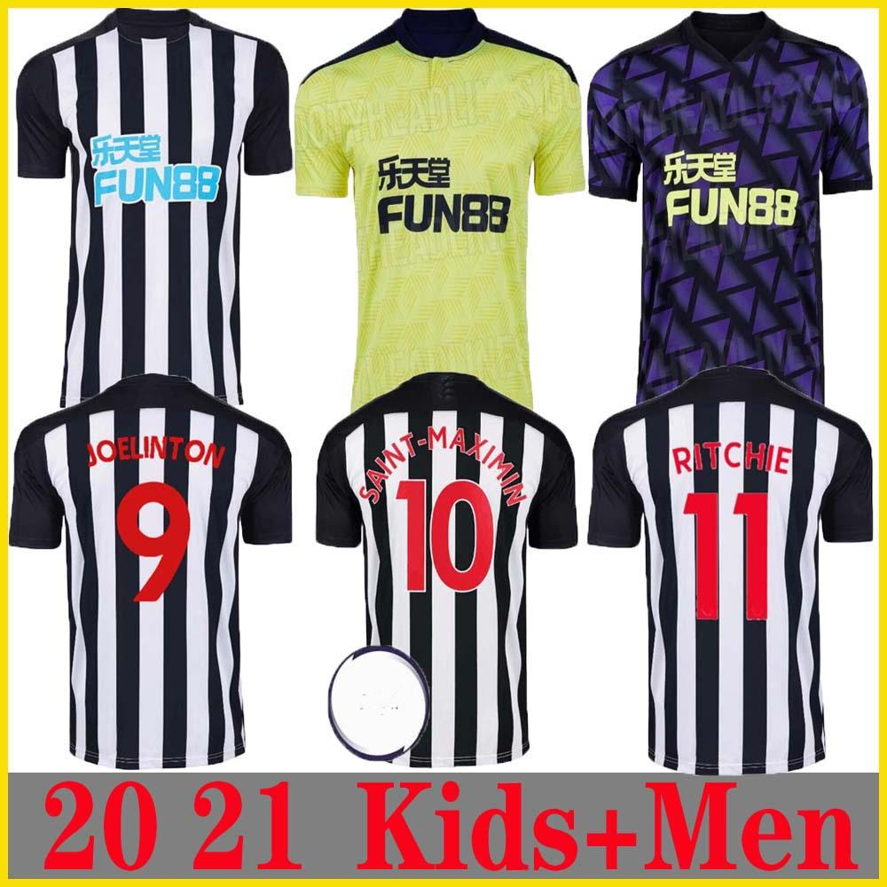 Nuevo 20 21 Newcastle hogar lejos terceira fútbol jerseys Shelvey 2020 2021 camiseta de fútbol Joelinton ALMIRON RITCHIE GAYLE MAN + kids kit Jerse