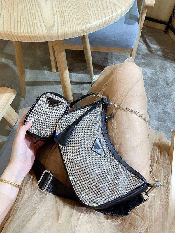 Designer Paillettes Vendita Set Multi Pochette borsa Imposta ascellare Borsa a tracolla borsa Messenger Bag Canvas Dicky0750 a95O #