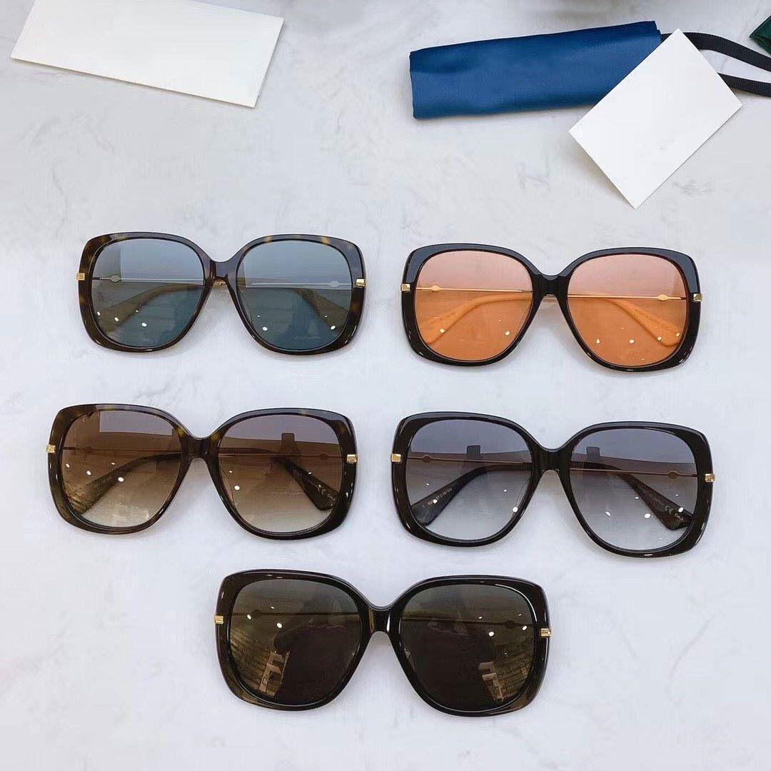2020 نساء موضة جديدة مشاهدة المتضخم ساحة نظارات 0511S خصيصا النحل تفاصيل تصميم نجم نظارات أعلى جودة UV400 حماية 0511
