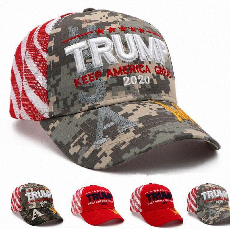Donald Trump Baseball-Mütze 2020 Halten Make Amerika Große justierbare Hysteresen im Freiensport-Ineinander greifen-Kugel Cap DDA160 FkLE #