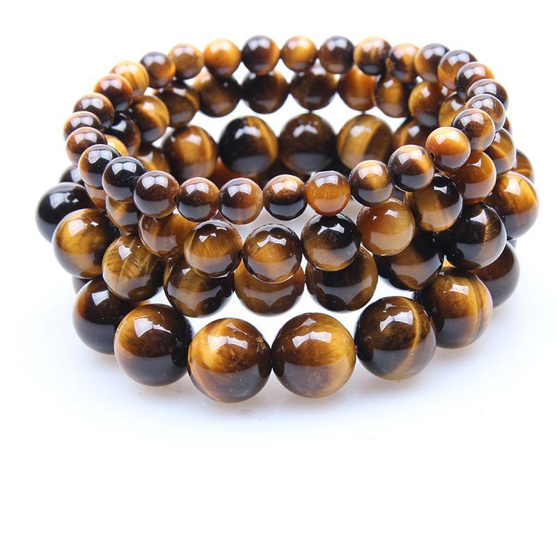 Haute qualité de 6 mm 8 mm 10 mm Tiger Eyes Prayer Bracelet en perles naturelles Femme Pulseira Bracelsts Bangles Homme Femmes Yoga Bijoux