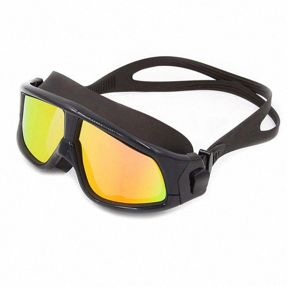Новый взрослый водонепроницаемый противотуманных Покрытие плавательные очки Дайвинг очки Профессиональные Водонепроницаемые силиконовые бассейн Водные виды спорта Очки Fa tznG #