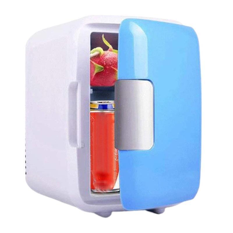 Новый 4-литровый Портативный компактный холодильник Личный Cools отборочные Отлично подходит для автомобилей Спальня Офис Общежитие Портативный макияжа Skincare Холодильник