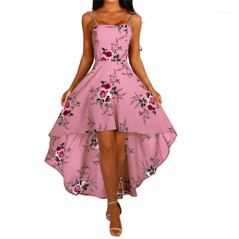 Spaghetti-Bügel-Backless reizvolle Art Frauen Kleider beiläufige Frauen-Kleidung der Sommer-Frauen Designer-Kleider mit Blumenmustern