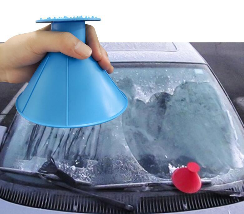 Pára-brisas Neve Removedor janela mágica Car Ice Scraper atirador de neve Cone em forma de funil de camareiras Limpeza Ferramenta de transporte marítimo OOA9163