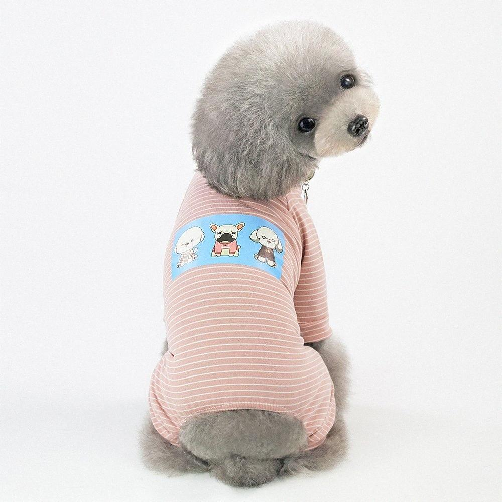 2019 Pet Clothes Comfy Cotton Small Dog Cat Onesie Coat Jumpsuit Puppy Kitten Cat Shirt Pajamas Casual Striped Rompers Overalls y4yw#