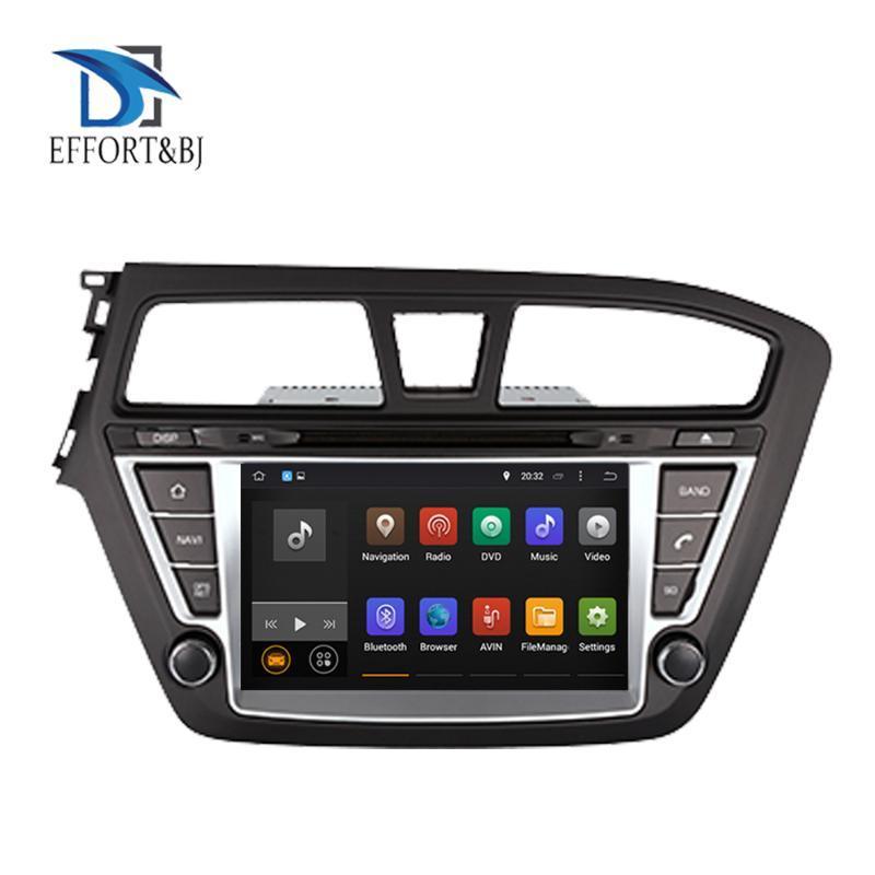الروبوت ستيريو 9.0 الثماني الأساسية راديو 4GB للحصول على سيارة I20 2014-2020 اليد اليسرى لتعليم قيادة السيارات GPS للملاحة DVD ومشغل الوسائط المتعددة سيارة دي في دي