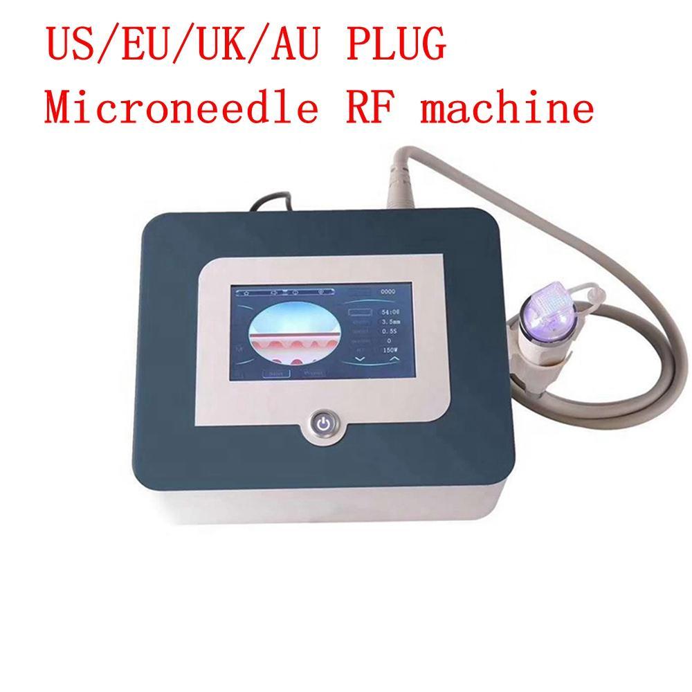 Портативный фракционный RF MicroNeedle Machine Lift Lift Gold Micro игольчик Acne Scar Stratch Mark Удаление системы обработки DHL Ship