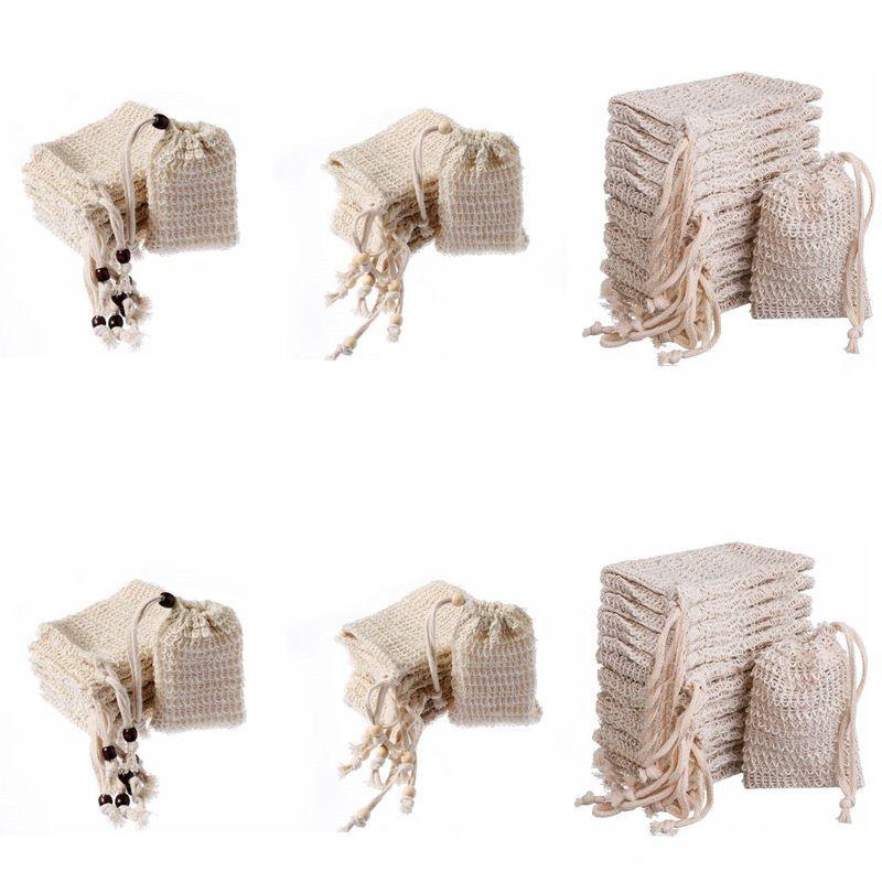 Savon Sac de bulles Saver Sac Pochette de rangement avec cordon de serrage Sacs de nettoyage Coton surface de peau Linge de bain Fournitures Porte Drawstring DHD1013