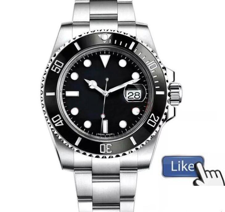 Nuova cornice in ceramica Top Mens 2813 Movimento automatico in acciaio inox meccanico Sport Sport Self-Wind Watches WristWatches BTime