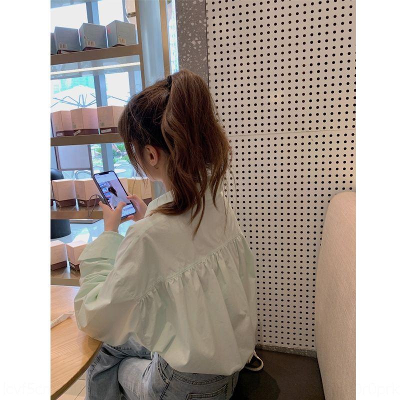 H3YE6 OP7cS Dies ist dein Licht Sauerstoff kurze Minze im frühen Herbst Shirt ~ Mädchens Tunnelzug offenen Kragen Polo Nabelschnur Shirt für Frauen