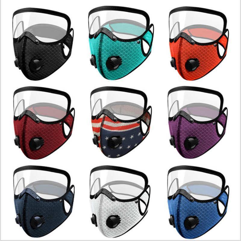 13 Farben-Gesichtsmaske mit Aktivkohle Filter PM2.5 Anti-Pollution Sport Running Training MTB Rennrad Schutz Staub DHC1280 Maske