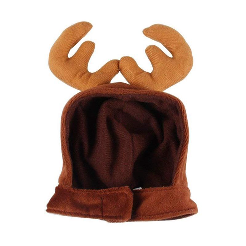 عيد الميلاد الحيوانات الأليفة لطيف الرنة زي قبعة للالقطة والكلب الصغيرة