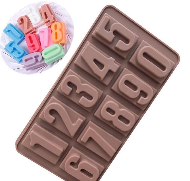 Pişirme Kek Kalıp Food Grade Silikon Küp Mutfak Dijital Çikolata Parti Buz Doğum home2009 UvECf