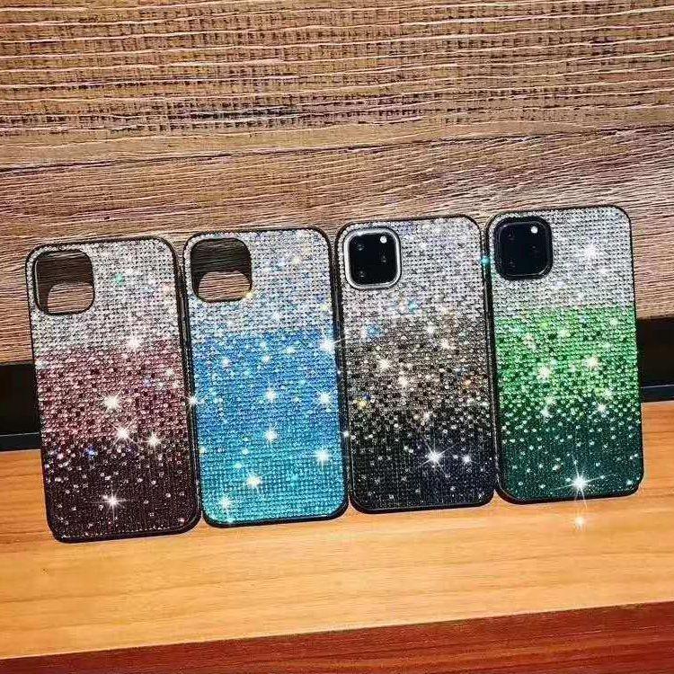 Премиум Gradient Блеск Rhinestone Роскошные Женщины мода телефон чехол для iPhone 12 11 Pro Max Xs X Хг 6 7 8 Plus