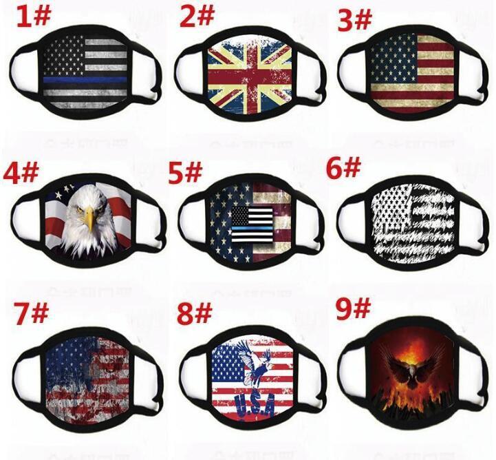 US-Aktiengesichtsmasken Trump amerikanische Wahl Supplies Staubdichtes Druckmaske Universelles für Männer und Frauen-Flagge Maske freies Verschiffen