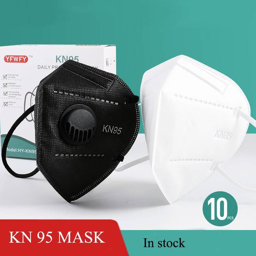 KN95 أقنعة مصمم الكبار 95kn المتاح غير المنسوجة قناع الوجه مع مرشح الغبار يندبروف التنفس الغبار واقية الضباب الفم faceMask