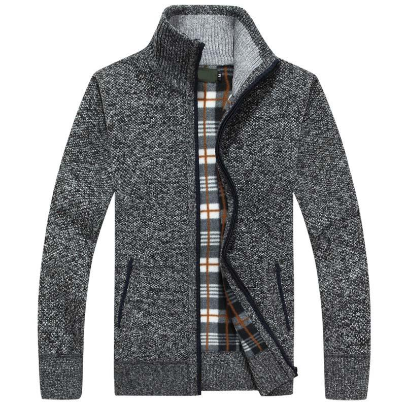 2020 New Outono Homens Winter Camisola Morna Cashmere Wool Zipper Cardigan Men casaca Casual Malha roupas masculinas