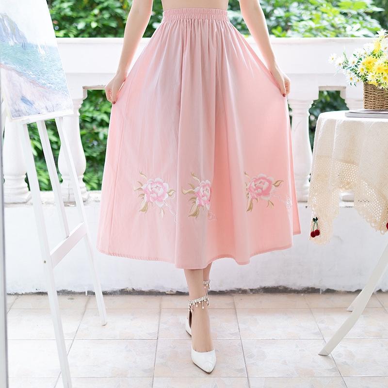 ropa del juego de la espiga de las mujeres 4182 # estilo étnico chino República de vestimenta casual de China mejoró la falda antigua un vestido formal traje nacional